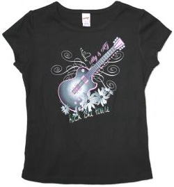 Aly & AJ Tシャツ Foiled Guitar